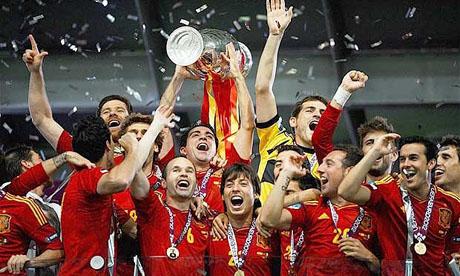 2012年欧洲杯决赛:西班牙 4-0 意大利(7月1日)图片