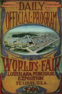 Poster ufficiale dei Giochi olimpici 1904
