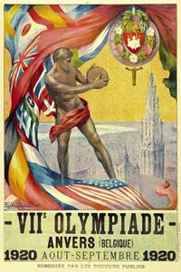 Poster ufficiale dei Giochi olimpici 1920