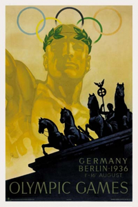 1936 Olympics Poster