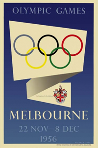 1956 Olympics Poster