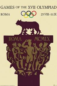 1960年罗马奥运会海报