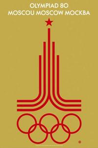 Poster ufficiale dei Giochi olimpici 1980