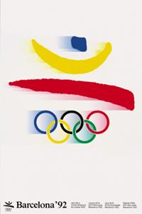 Poster ufficiale dei Giochi olimpici 1992