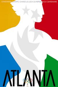 Poster ufficiale dei Giochi olimpici 1996
