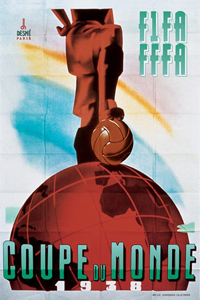 Póster oficial del Mundial 1938