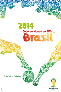 Cartaz oficial da Copa do Mundo 2014