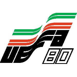 Poster ufficiale degli Europei 1980