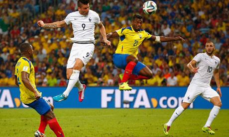 Copa Mundial de Fútbol 2014 : Ecuador - Francia
