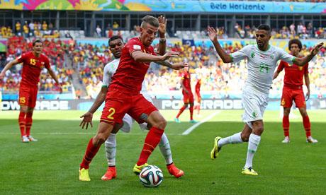 Copa Mundial de Fútbol 2014 : Bélgica Argelia