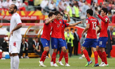 Copa Asiática 2011 : Uzbekistán - Corea del Sur