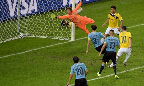 WM 2014 : Kolumbien Uruguay