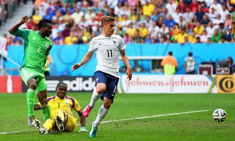 WM 2014 : Frankreich Nigeria