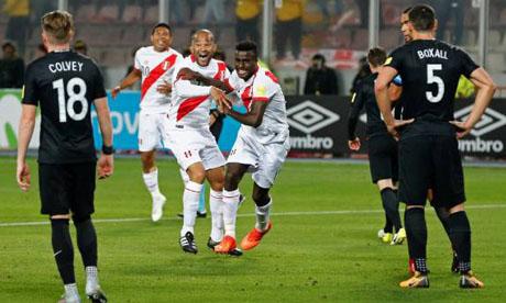 世界杯:秘鲁VS新西兰